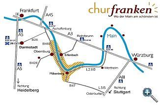 How to arrive to Churfranken